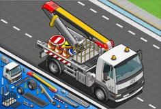 Caminhão de elevador isométrico da plataforma em Front View Fotografia de Stock