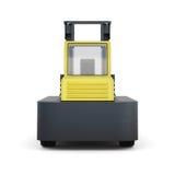 Caminhão de empilhadeira isolado no fundo branco 3d rendem os cilindros de image Imagem de Stock Royalty Free