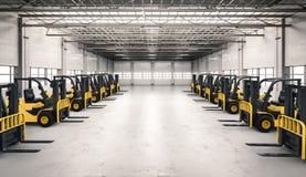Caminhão de empilhadeira na fábrica Imagens de Stock Royalty Free