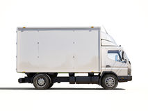 Caminhão de entrega comercial branco Fotos de Stock