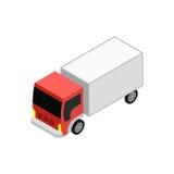 Caminhão de entrega isométrico Imagens de Stock Royalty Free