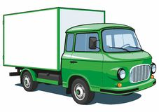 Caminhão de entrega verde ilustração stock
