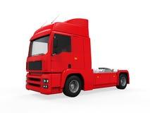 Caminhão de entrega vermelho da carga Fotografia de Stock