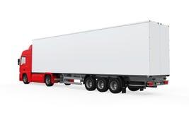 Caminhão de entrega vermelho da carga ilustração do vetor