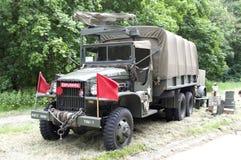Caminhão de exército fotografia de stock