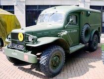 Caminhão de exército britânico da guerra mundial 2 Fotografia de Stock Royalty Free