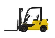 Caminhão de Fork-Lift amarelo Imagem de Stock