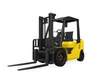 Caminhão de Fork-Lift amarelo Fotografia de Stock