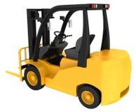 Caminhão de Fork-Lift amarelo Foto de Stock
