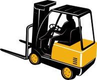 Caminhão de Forklift com excitador ilustração royalty free