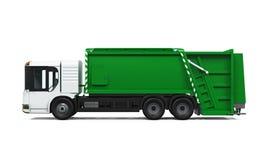 Caminhão de lixo isolado Fotografia de Stock Royalty Free
