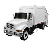 Caminhão de lixo sobre o branco Imagem de Stock