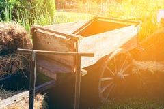 Caminhão de madeira no jardim Fotografia de Stock
