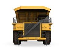Caminhão de mineração amarelo  Fotos de Stock Royalty Free
