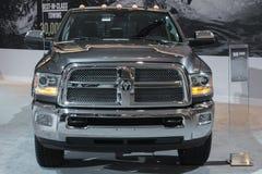 Caminhão de RAM 1500 na exposição na feira automóvel do LA. Foto de Stock Royalty Free