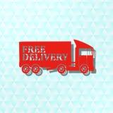 Caminhão de reboque, ícone, sinal, a melhor ilustração 3D Foto de Stock Royalty Free