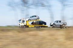 Caminhão de reboque Fotografia de Stock
