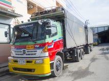 Caminhão de reboque, recipiente Imagens de Stock