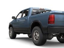 Caminhão de recolhimento moderno poderoso do azul de aço ilustração do vetor