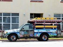 Caminhão de recolhimento pintado Imagens de Stock