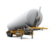 Caminhão de tanque do óleo isolado Fotos de Stock