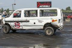 Caminhão destruído Fotografia de Stock