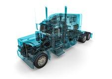 Caminhão do americano do quadro do fio Foto de Stock Royalty Free