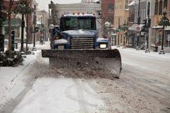 Caminhão do arado de neve Fotos de Stock Royalty Free