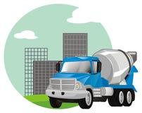 Caminhão do cimento com ícone ilustração do vetor