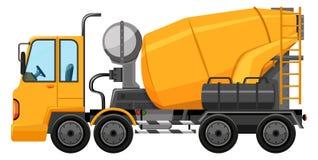 Caminhão do cimento na cor amarela ilustração stock