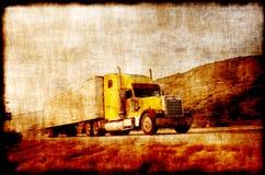 Caminhão do estilo do vintage fotos de stock