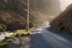 Caminhão do frete na estrada Foto de Stock