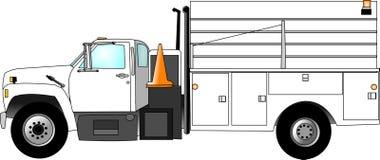 Caminhão do grupo de construção ilustração do vetor