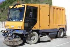 Caminhão do líquido de limpeza de rua Fotos de Stock Royalty Free