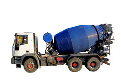 Caminhão do misturador de cimento imagens de stock