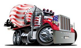 Caminhão do misturador dos desenhos animados ilustração do vetor