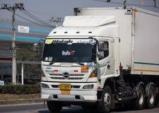 Caminhão do recipiente de Thanaporn Logistic para lótus de Tesco fotos de stock royalty free