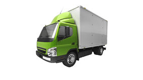 Caminhão do serviço de entrega isolado Fotografia de Stock Royalty Free