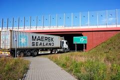 Caminhão do transporte Foto de Stock