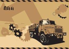 Caminhão do vintage ilustração royalty free