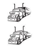 Caminhão e caminhão de tanque Imagem de Stock Royalty Free