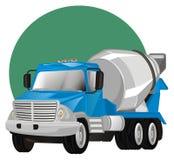 Caminhão e sinal do cimento ilustração stock