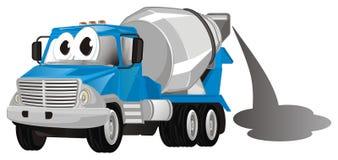 Caminhão engraçado com cimento ilustração do vetor