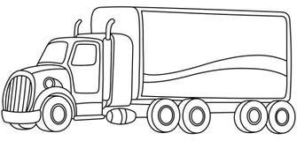Caminhão esboçado dos desenhos animados fotografia de stock royalty free