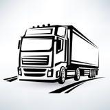 Caminhão europeu ilustração stock