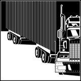 Caminhão grande com reboque ilustração royalty free