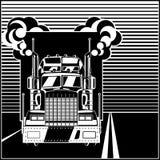 Caminhão grande na estrada ilustração do vetor