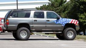 Caminhão Guzzling do gás Imagem de Stock Royalty Free