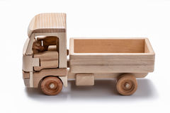 Caminhão isolado & x28; lorry& x29; brinquedo no fundo branco foto de stock royalty free