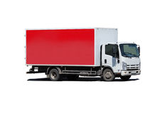 Caminhão isolado no branco fotografia de stock